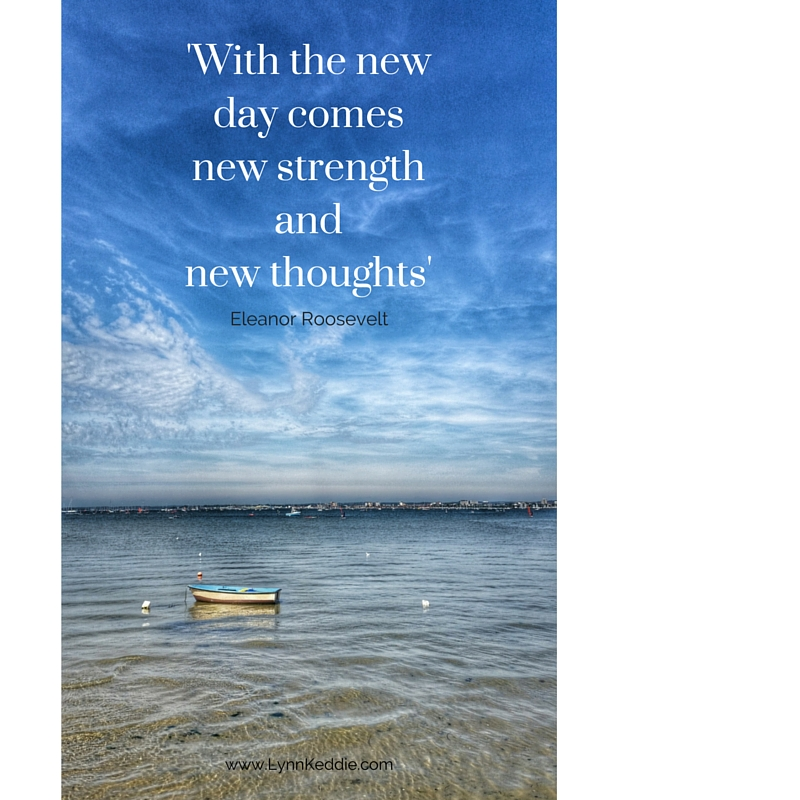 rowing boat on the sea, quote